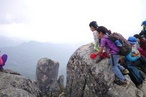 瑞牆山の山頂にて