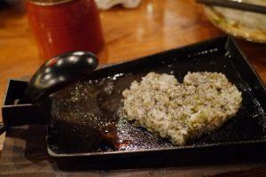 宮崎地鶏の油で炒めたご飯