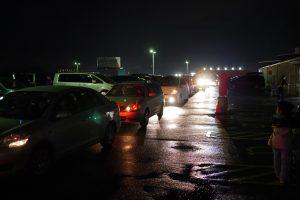 雨上がりのコストコ駐車場