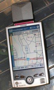 TOSHIBA Genio e550GXとPocket Mapple Digital(CFのGPS付き)