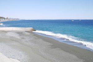 大磯PAからみた綺麗な海
