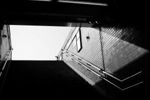 地下鉄の階段