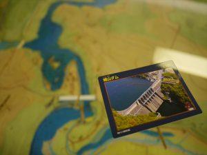 城山ダムのダムカード