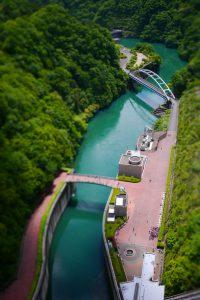 宮ヶ瀬ダムから下界をジオラマ化