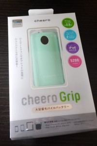 cheero Grip 5200mAhのパッケージ(表)