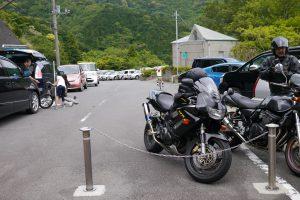奥野ダム管理所の駐車場