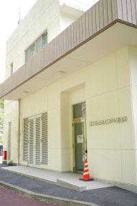 青野大師ダムの管理所の入り口