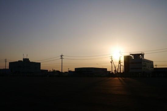日が傾いてきました