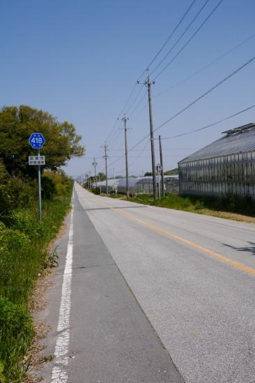 途中で見つけた凄い直線 県道418号線