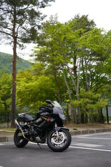 広瀬ダムの駐車場
