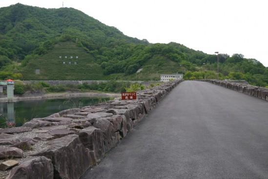 荒川ダムの堤体