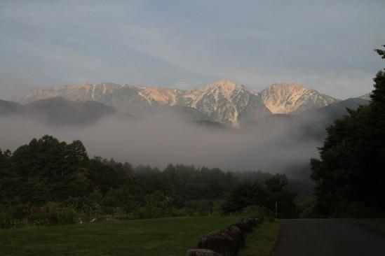 白馬アルプスオートキャンプ場からの風景