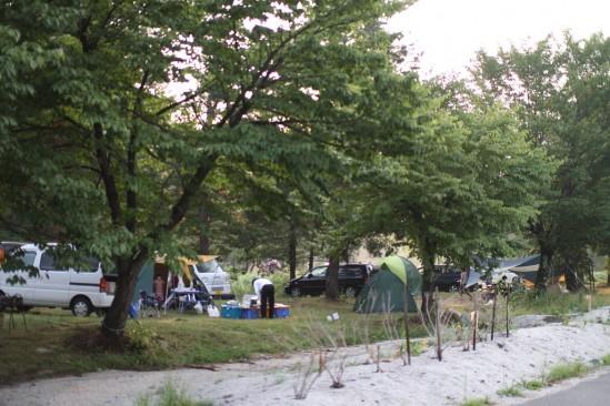 早朝の白馬アルプスオートキャンプ場