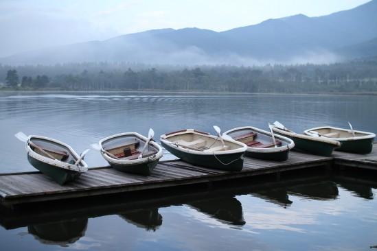 バラギ湖のボート