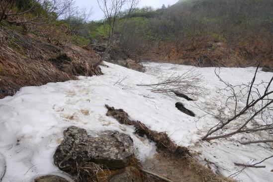 ルート上の雪渓