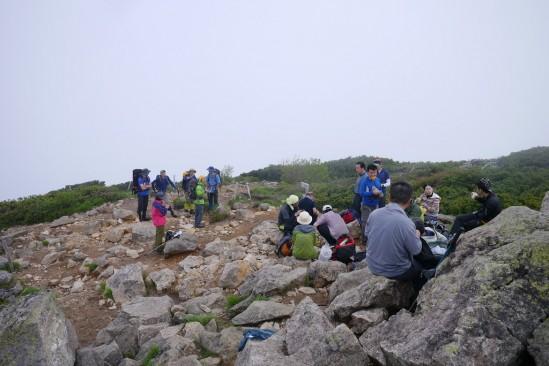 燧ヶ岳の山頂 柴安嵓の広場