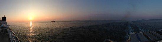 名門大洋フェリーからパノラマ写真