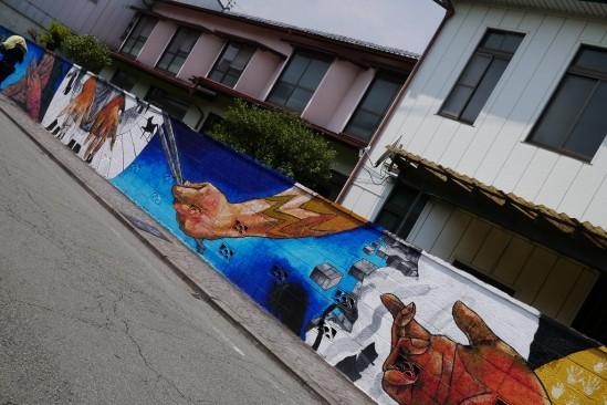 熊本県阿蘇市内牧の壁画