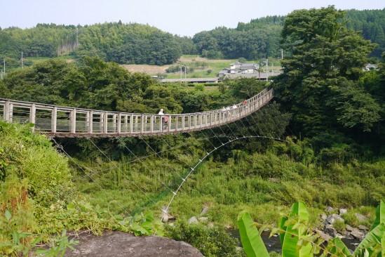 原尻の滝の滝見橋
