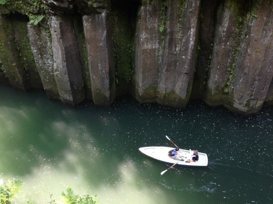 高千穂峡とボート