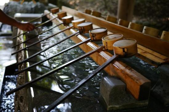 天岩戸神社の手水場(ちょうずば)