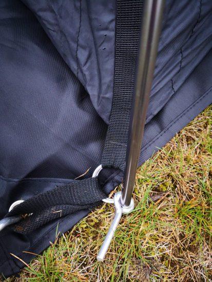 Weanas テントポール アルミポール 2本セット 直径8.5mm 11節 交換用テント ポールの差し込み方