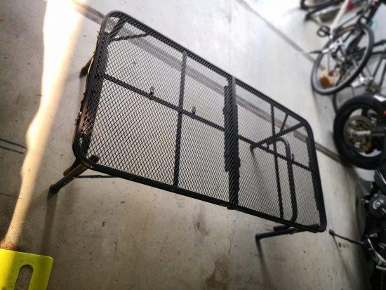 キャンパーズコレクション タフライトテーブル TLT-1260(MBK)をロースタイルで使う